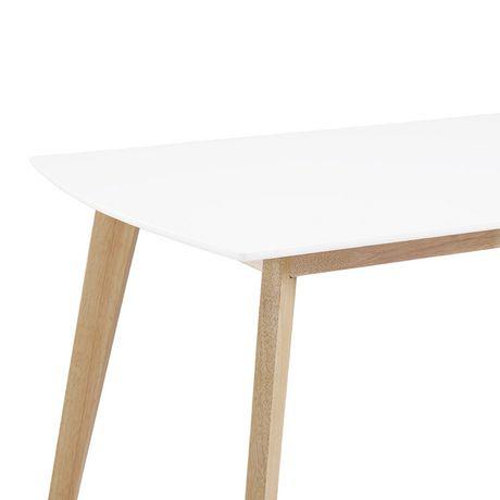 Manor Park Table à manger rétro moderne en bois - image 4 de 5