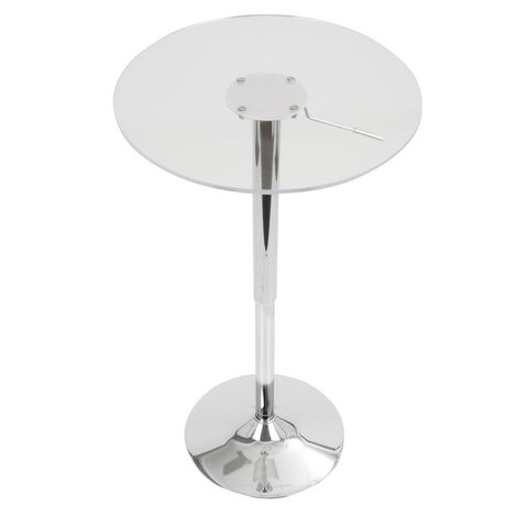 LumiSource Clear Adjustable bar Table - image 2 of 3