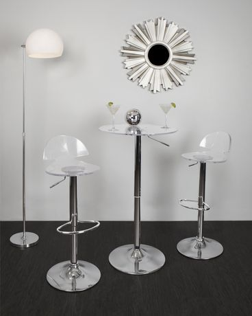 LumiSource Clear Adjustable bar Table - image 3 of 3