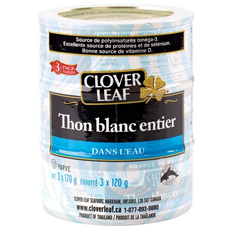 Clover leaf solid white tuna in water for Whiting fish at walmart