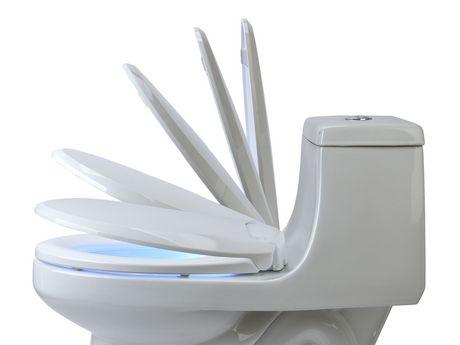 Siège chauffant de toilettes avec veilleuse-ronde blanc- LumaWarm - image 2 de 4