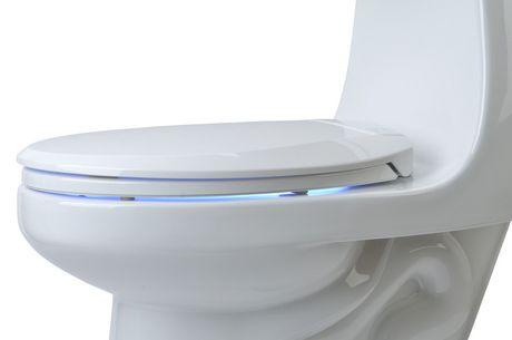 Siège chauffant de toilettes avec veilleuse-ronde blanc- LumaWarm - image 3 de 4
