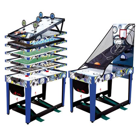 Medal sports 48 inch 13 in 1 combo game table walmart canada for 11 in 1 game table