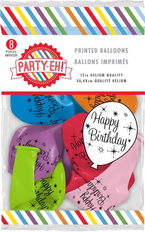 Party Eh 12 Helium Quality Latex Balloons Walmart Canada