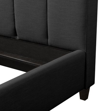 5d68a798fe2f CorLiving Rosewell Vertical Channel-Tufted Fabric King Bed Frame - image 6  of 9 ...