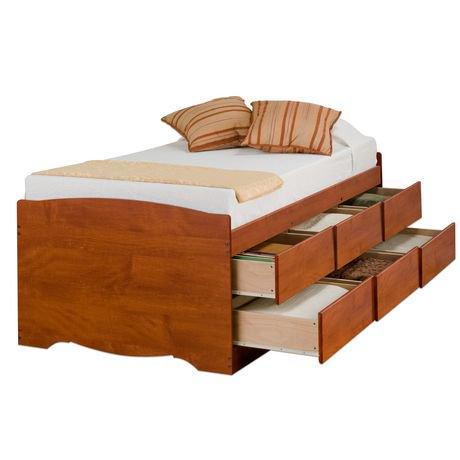 base de lit capitaine haute de prepac avec rangement de 6 tiroirs pour lit simple walmart canada. Black Bedroom Furniture Sets. Home Design Ideas