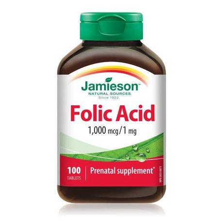 Jamieson Laboratories Jamieson Folic Acid 1 000 Mcg