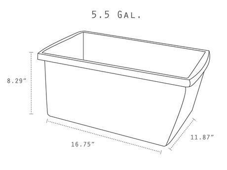 Storex 5.5 Gallon/ 21Litres Bac d'entreposage / Multicouleurs (6 unités /paquet) - image 5 de 5