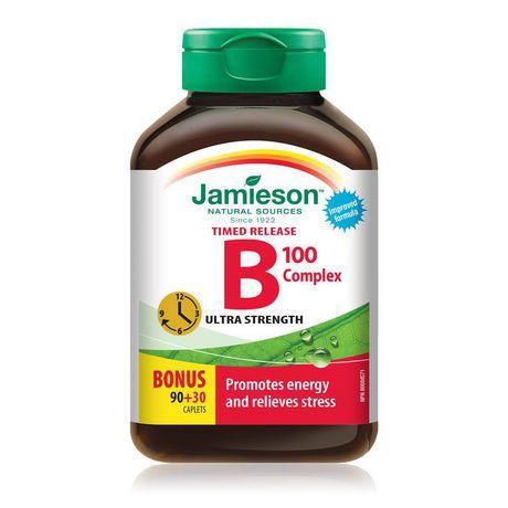 Jamieson Laboratories Jamieson B Complex Timed Release Caplets, 100 mg - image 1 of 3