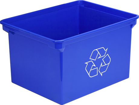 Storex Recycling Bin Container /9 Gallon & 35 Liter/ Blue - image 1 of 1