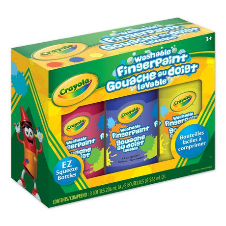 Washable fingerpaint 3ct walmart canada for Walmart arts and crafts paint