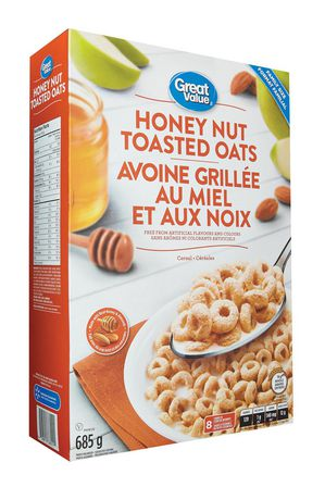 Great Value Family Size Honey Nut Toasted Oats - image 2 of 3
