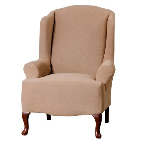 SureFit™Diamond Stretch Wing Chair Slipcover - image 1 of 1