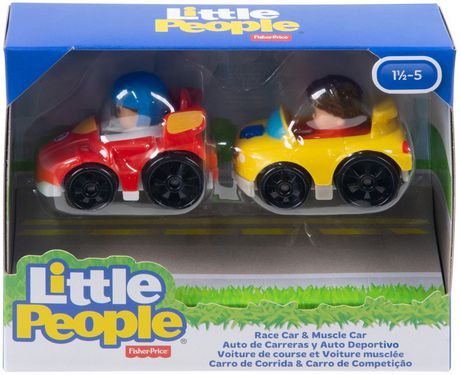 Little People Wheelies 2-Pack, Race Car & Muscle Car - image 3 of 3