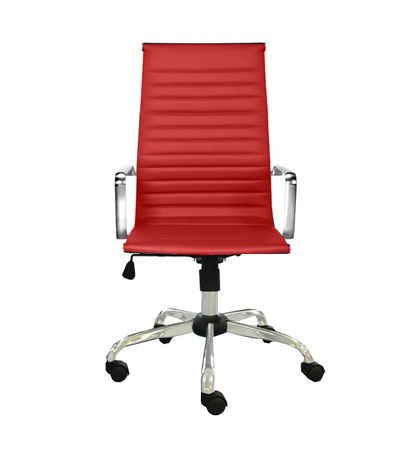 Office Chair, Euro high back in Red - image 1 of 1
