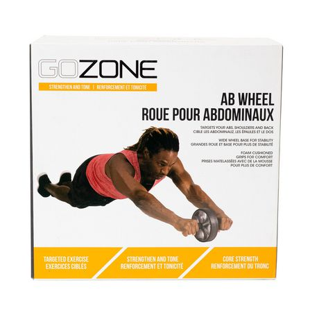 GoZone Ab Wheel, Grey Combo - image 3 of 5