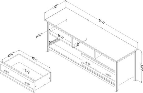 South Shore Exhibit TV Stand for Tv's up to 60 Inches - image 4 of 8