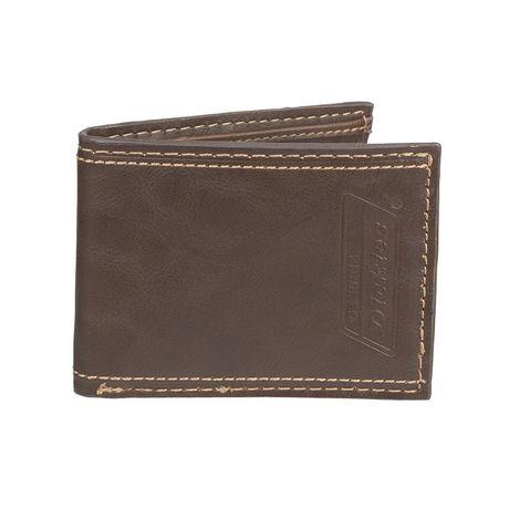Genuine Dickies Men s Slim Fold Leather Wallet  f3cf84d5c995