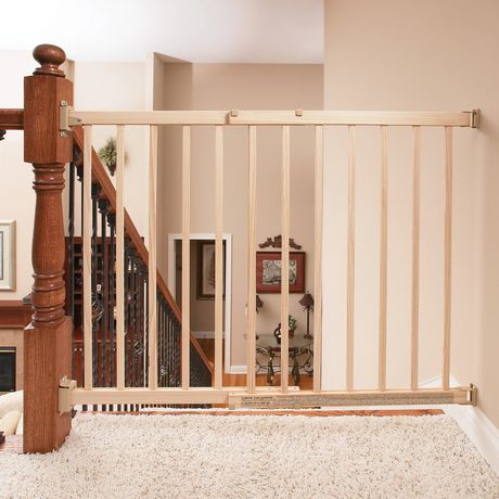 Walk Thru Top Of Stairs Baby Gate Natural Walmart Canada