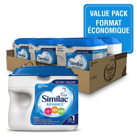 Similac Advance Step 1 Baby Formula Powder, 6 x 658 g, Value Pack - image 1 of 9