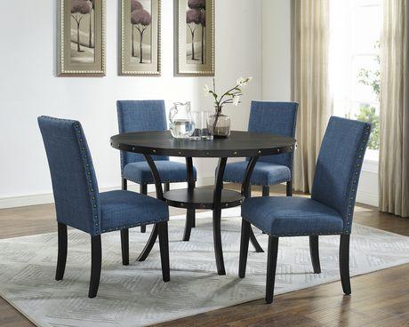 Table A Manger Noir Luxe Salle Bleu Canard Beau Chaise - Chaise ...