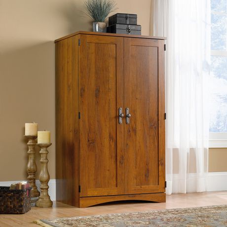 armoire d ordinateur oak de sauder abbey walmart canada. Black Bedroom Furniture Sets. Home Design Ideas