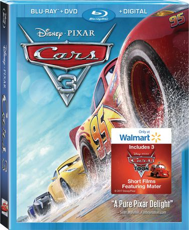 cars 3 blu ray dvd digital hd walmart exclusive walmart canada. Black Bedroom Furniture Sets. Home Design Ideas