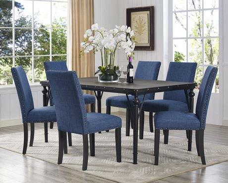 Set de salle manger 7 pi ces indira table 6 chaises for Set de salle a manger