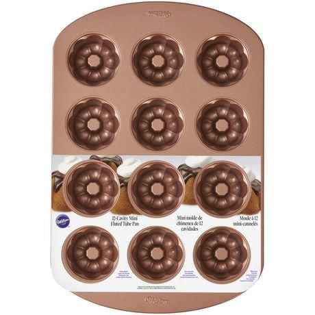 Wilton Mini Fluted Tube Bronze Cake Pan | Walmart Canada