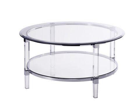 Topline Home Furnishings Round Glass Coffee Table Walmart Canada