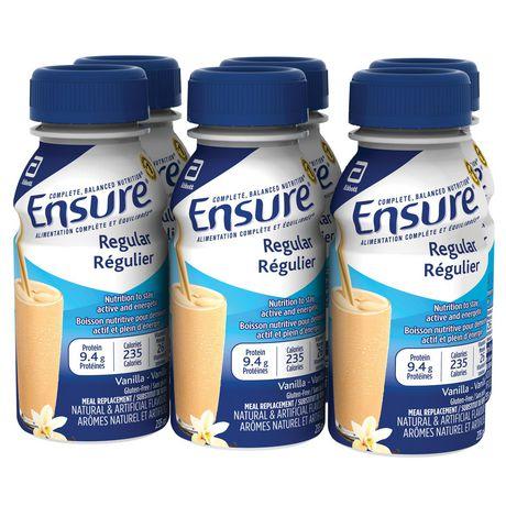 Ensure® Regular, Complete Balanced Nutrition, Vanilla, 6 x 235 mL - image 1 of 9