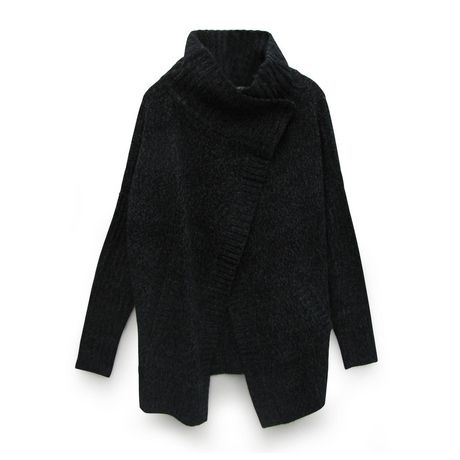 George Women's Cowl Neck Button Wrap Cardigan with Front Pockets - image 1 of 1