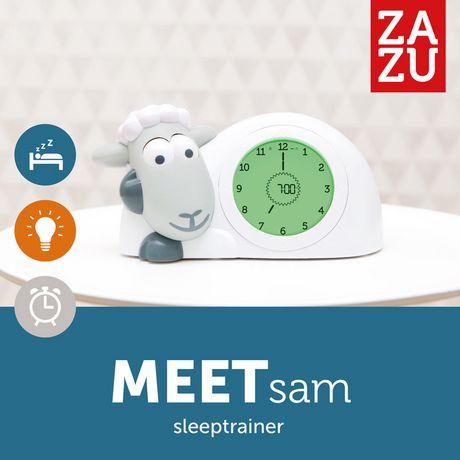 Jouet entraîneur de sommeil et veilleuse SAM de Zazu en gris - image 2 de 4