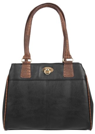 Anna Martina Franco Croco Trim 3-Compartment Shoulder Bag ...