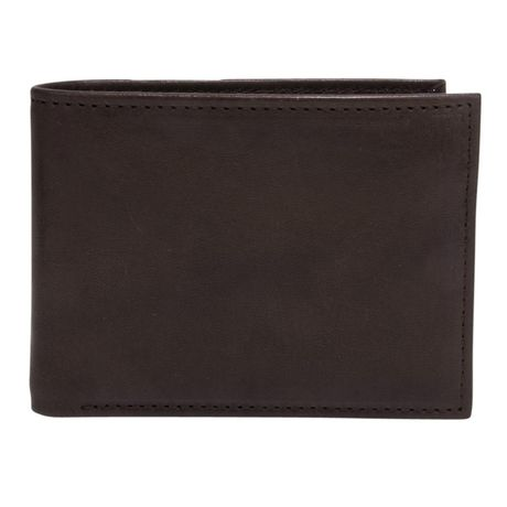R70 Men's Genuine Slimfold Brown Wallet with Pull Id - image 1 of 6