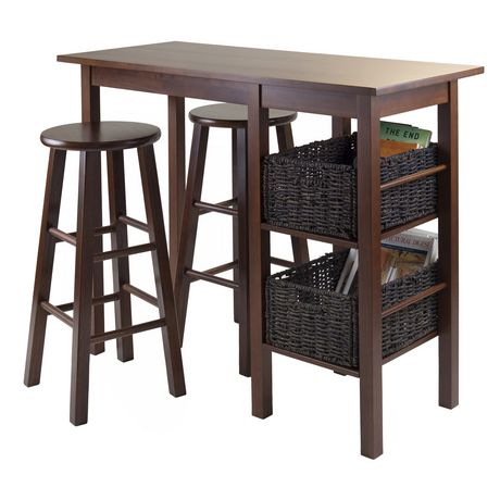 Egan 5pc table with stools and baskets, item 94560 - image 2 of 2
