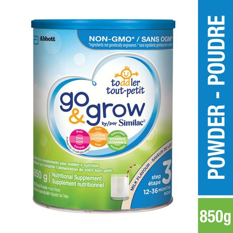 Go & Grow by Similac Step 3 Toddler Formula Powder, 850 g, Milk Flavour - image 1 of 8