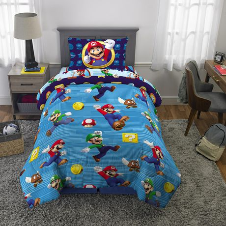 Super Mario Brothers Madness, Mario Bed Sheets Queen