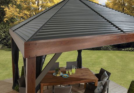 Sojag South Beach Wood Finish Sun Shelter - image 3 of 6