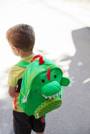 "Zoocchini Toddler Child Backpack 13"" Daycare School Bag Devin The Dinosaur - image 2 of 7"