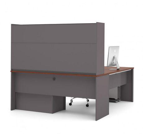 Bestar Connexion Poste de travail en L avec un caisson surdimensionné - image 3 de 5