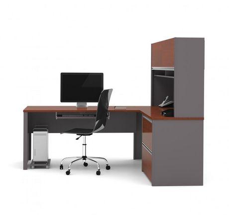 Bestar Connexion Poste de travail en L avec un caisson surdimensionné - image 2 de 5