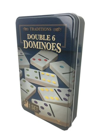 Cardinal Games Traditions - Double 6 Dominoes in A Tin - image 1 of 1
