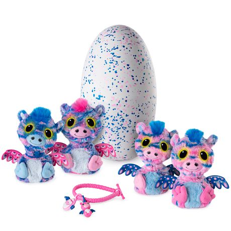 03299b39bccf Hatchimals Surprise – Zuffin – Hatching Egg with Surprise Twin Interactive  Hatchimal Creatures And Bracelet Accessory by Spin Master