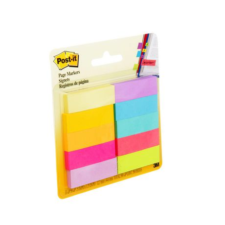 POST - IT Post-it® Page Markers, Assorted Brights, 1/2 in X 2 in (1.3 Cm X 5 Cm) - image 2 of 5