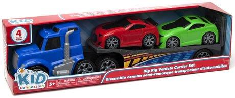 Kid Connection Big Rig Trailer Race Car Toy Vehicle Set Walmart Canada
