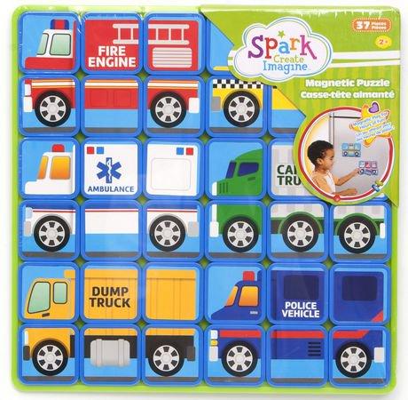 Walmart Spark Shop >> Spark Create Imagine Vehicles Magnetic Square Puzzle ...