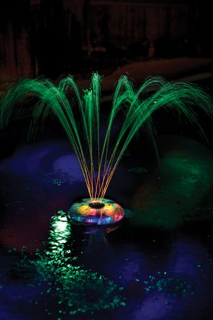 Game Small Underwater Floating Light And Fountain For