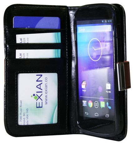 Exian Case for Nexus 4 - Leather Wallet - image 2 of 3