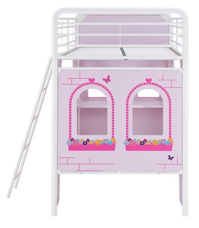 Lit mezzanine enfants imagination ch teau princesse - Lit chateau princesse ...